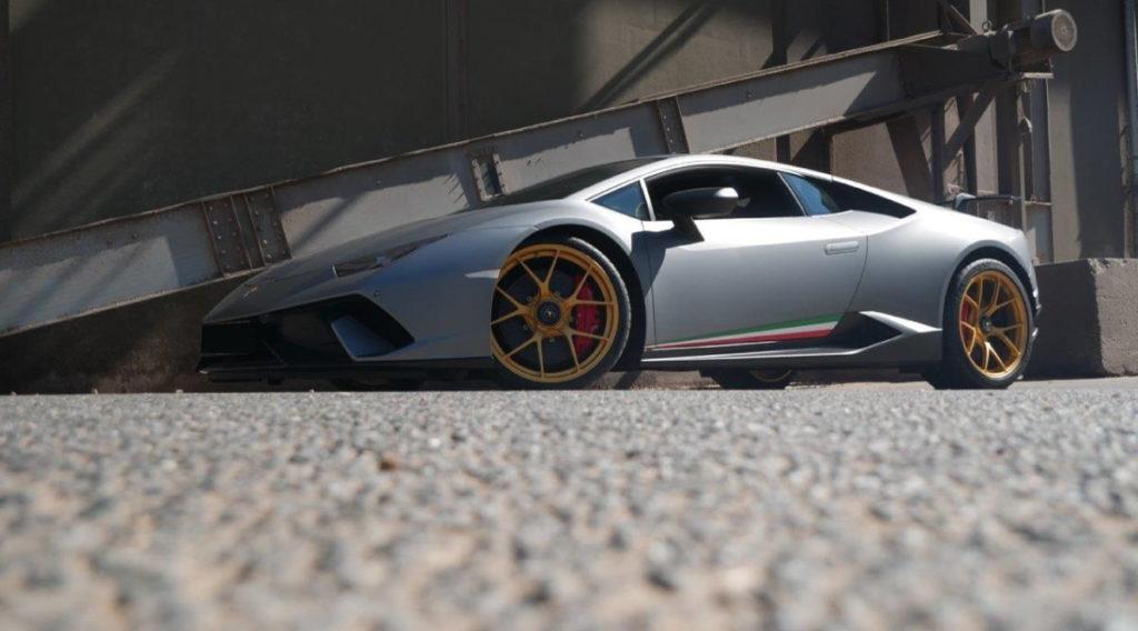 Lamborghini Huracan Performante mit Zentralverschluss Felgen von Schmidt und Gewindefedern von KW.