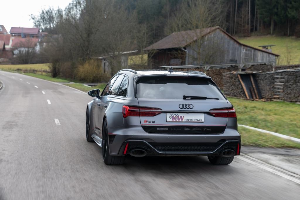 Audi RS6 C8 mit KW Tieferlegungsfedern